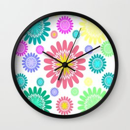RAINBOW FLOWER Wall Clock