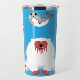 What Do Polar Bears Eat? Travel Mug