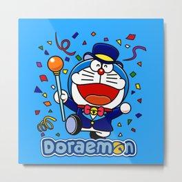 doraemon Party Metal Print