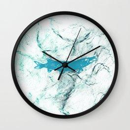 pike in the net Wall Clock