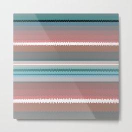 Horizon Sky Soul Stripes Color Therapy Art Print Metal Print