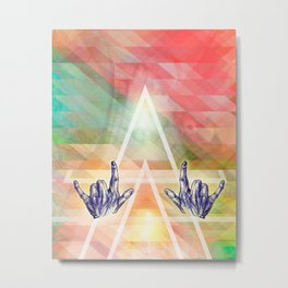 Dear rocking' hands - Music, body line art and color Metal Print