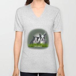 dog world anew Unisex V-Neck