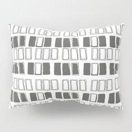 Blocks White/Grey Pillow Sham