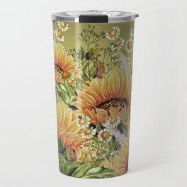 Vintage Garden 5 (Sunflower Field) Travel Mug