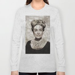 Joan Crawford, Vintage Actress Long Sleeve T-shirt