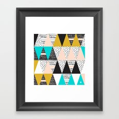 Patterns Triangles forms Framed Art Print