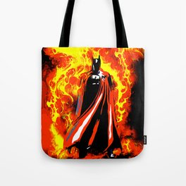 Bat on Fire Tote Bag