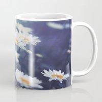 daisies Mugs featuring Daisies by Kameron Elisabeth