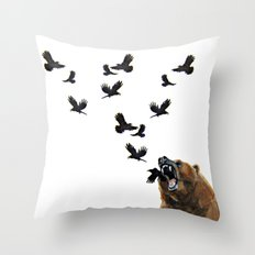 Sacred Outrage Throw Pillow