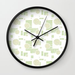 Imperfection in Green Wall Clock