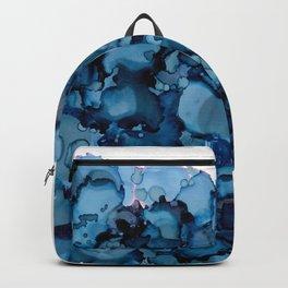 Indigo Abstract Painting | No. 8 Backpack