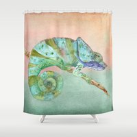 karma Shower Curtains featuring Karma by Catherine Holcombe