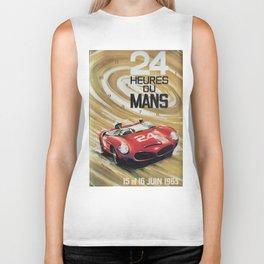 24hs Le Mans, 1963, vintage poster Biker Tank