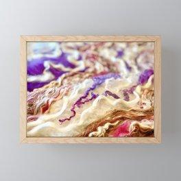 Flow I - Merino / Mohair Framed Mini Art Print