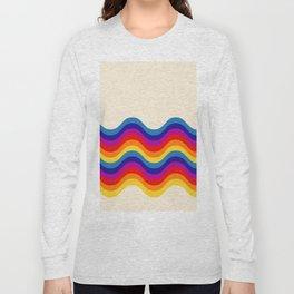 Wavy retro rainbow Long Sleeve T-shirt