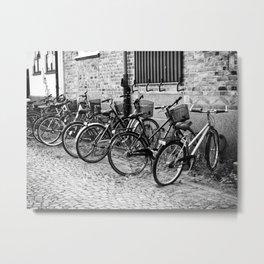 Bike parking only Metal Print