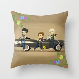 Retro Sailor Starlights Throw Pillow