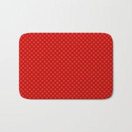 Red polka dot pattern Bath Mat