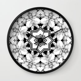Black White Deconstructed  Wall Clock
