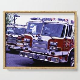 Those Wonderful Fire Trucks Serving Tray