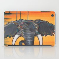 dumbo iPad Cases featuring Not so Dumbo (Elephant) by Kai Monster