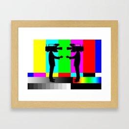 We Met On Set Framed Art Print