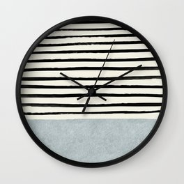 Silver x Stripes Wall Clock