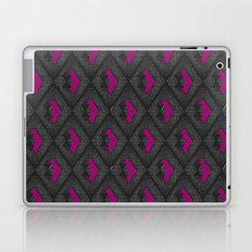 Geometric Pattern - Pink & Dark Gray Laptop & iPad Skin