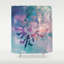 Watercolored Hylian Crest Shower Curtain