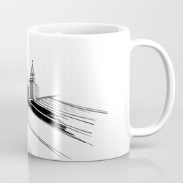 Vibrant City White Background Coffee Mug