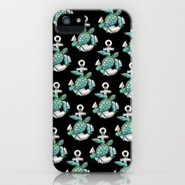 Sea Turtle Anchor iPhone Case
