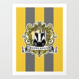 Hufflepuff Color Art Print