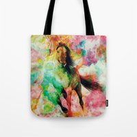 storm Tote Bags featuring Storm by RIZA PEKER