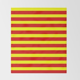 marinière mariniere red and yellow Throw Blanket