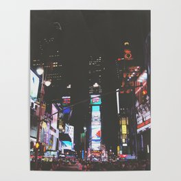 Evening Glow - Times Square Poster