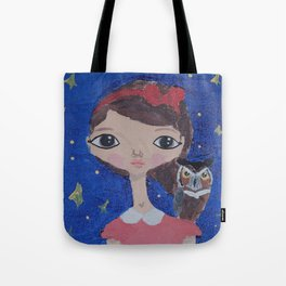 ~ Great Horned Owl ~ 10 Year Old Amelia's Arizona Critter Girl Tote Bag