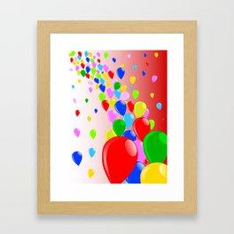 Fly Away Balloons Framed Art Print