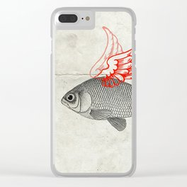 Flying Goldfish Clear iPhone Case