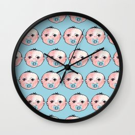 baby boy pattern Wall Clock