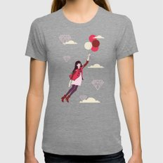Lucy in the Sky Womens Fitted Tee Tri-Grey LARGE