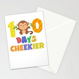 100 Days of School for Kindergarten Elementary Kids Dark Light Stationery Cards