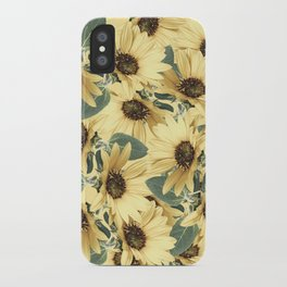 Bed Of Sunflowers iPhone Case