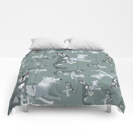 Totem Canadian wolf 1 Comforters
