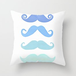 Moustache Throw Pillow