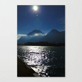 Alps at the Inn Canvas Print