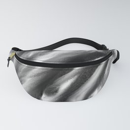 Charcoal Black White Fanny Pack