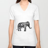 ganesh V-neck T-shirts featuring Ganesh by doctusdesign