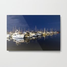 Midnight Marina Metal Print