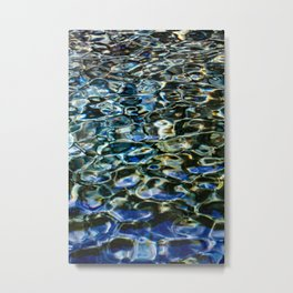 Cool Prismatic Waves on the Yuba Metal Print